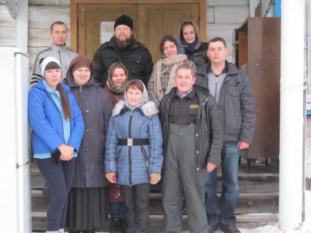 Волонтёры из Ижевска в храме села Светлое